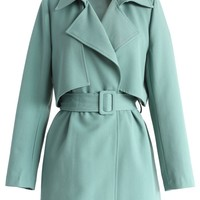 The Best Of Timeless Trench Coat in Teal