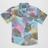 Straight Faded Paradise Boys Woven Shirt Blue  In Sizes