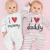 Baby Girl Clothing Sets Baby Boy Clothes Spring Newborn Baby Clothes Long Sleeve Infant Jumpsuits