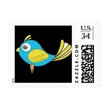 Colorful Bird Stamp
