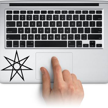 Great Heptagram Logo Vinyl Decal Sticker for Laptop Mac Car Window Cup Water Bottle Yeti Tumbler  Truck Stickers Decal Made in US (Message for Color)