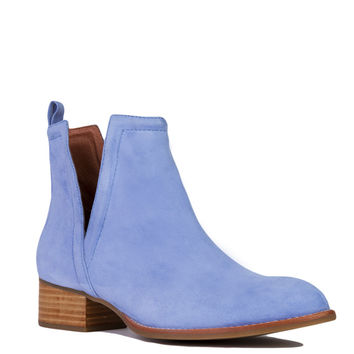 Jeffrey Campbell Muskrat Pale Blue Suede Booties