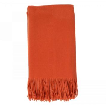 Cashmere Throw in Tangerine by Alashan