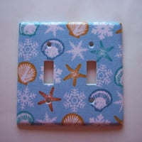 Seaside Holiday Double Toggle Switchplate