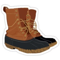 'LL BEAN BOOTS' Sticker by amandaspac