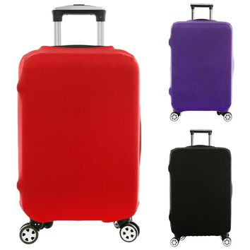 Top Sale Luggage Cover Suitcase Protective Covers Travel Luggage Trolley Dust Cover Travel Accessories Solid Color
