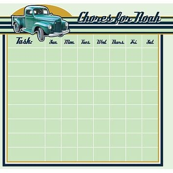 Vintage Truck Chore Chart