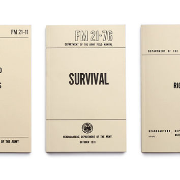 US Army Field Manuals (set of three)