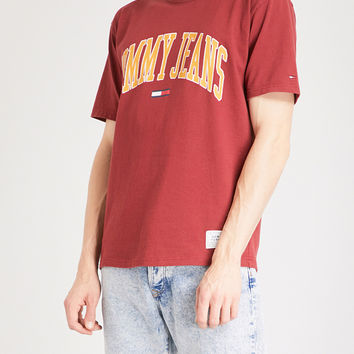 TOMMY JEANS Collegiate cotton-jersey T-shirt