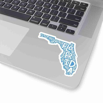Florida State Shape Sticker Decal - Carolina Blue