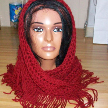Scarf in Autumn Red
