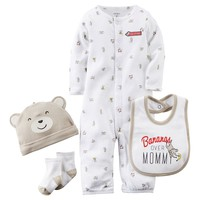Carter's ''Bananas Over Mommy'' Monkey Coverall Set - Baby Boy, Size: