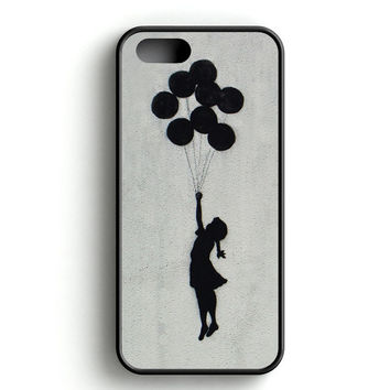 Banksy Balloon Girl Fly iPhone 4s iPhone 5s iPhone 5c iPhone SE iPhone 6|6s iPhone 6|6s Plus Case