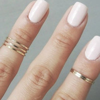 Gold Midi Rings(Set of 2)