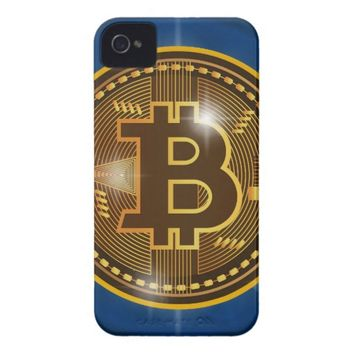 Cool Bitcoin logo and graph Design Case-Mate iPhone 4 Case