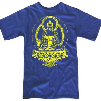 Mens BUDDHA t shirt S M L XL XXL (blue)