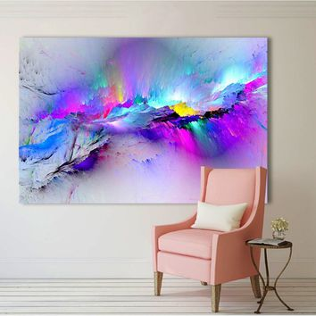 Printed Oil Painting Wall Pictures For Living Room Home Decor Abstract Clouds Colorful Canvas Art Home Decor