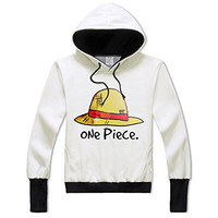 Anime One Piece Luffy Hoodie Hat Printing for Women Men Juniors