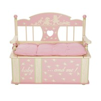 Levels of Discovery Rock-A-My-Baby Storage Bench (Pink)