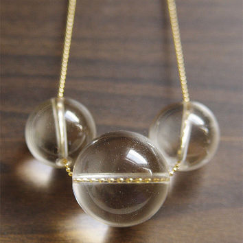 Eclipse Crystal Necklace - 14k Gold Filled