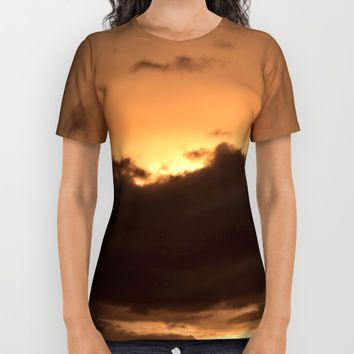 Costa Rican Sunset All Over Print Shirt by UMe Images