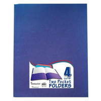 Two Pocket Folders - 4 Pack - Assorted Colors