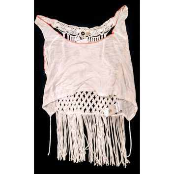 ROXY -  crocheted top - size XL #