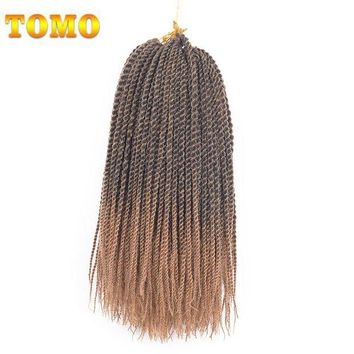 LMF78W TOMO Products 14 inch Ombre Senegalese Twist Crochet Hair Weave 9packs 30 strands Hign Temperature Fiber Crochet Braids