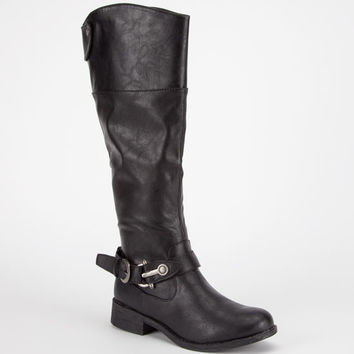 Bamboo Jagger Womens Boots Black  In Sizes