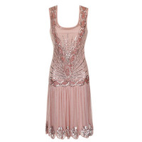 Zelda Embellished Flapper Dress