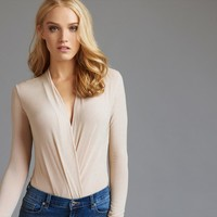 Long Sleeve Wrap Bodysuit