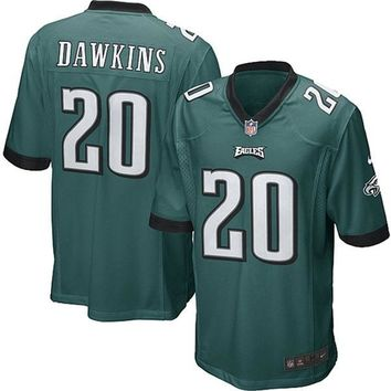 Mens Philadelphia Eagles Brian Dawkins Nike Midnight Green Game Jersey