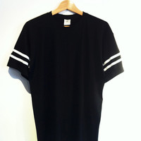 CUT&SEW STRIPES SLEEVES TAKK TEE