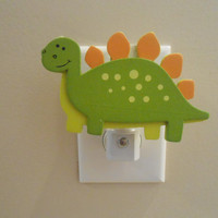 Dinosaur Night Light - Night Light - Dinosaur - Green Dinosaur - Boy Decor - Nursery Decor - It's A Boy