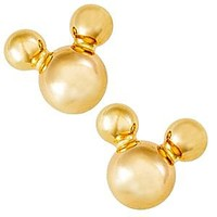 Mickey Mouse Icon Earrings - Gold | Disney Store