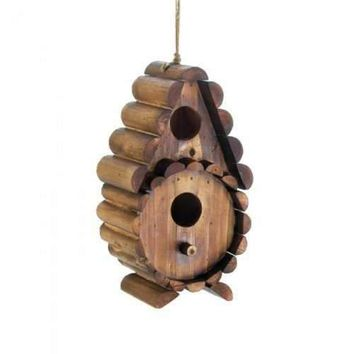 Round Log Birdhouse (pack of 1 EA)