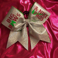 Cheer Bow - Big bows lime/pink