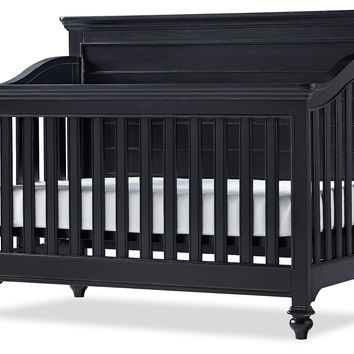 Amias Convertible Crib, Black, Cribs
