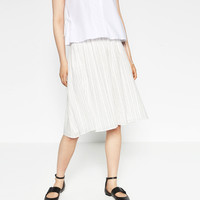LINEN FLOUNCE SKIRT - View All-SKIRTS-WOMAN | ZARA United Kingdom