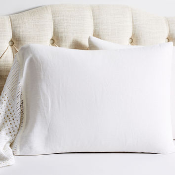 Vintage Crochet Pillow Cases, White, Set of 2, Pillow Cases