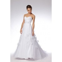 Modern sweetheart empire waist tulle wedding dress