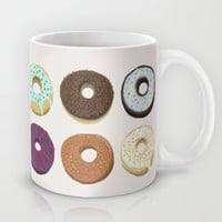 Doughnut assortment art print Mug by kongkongdigital