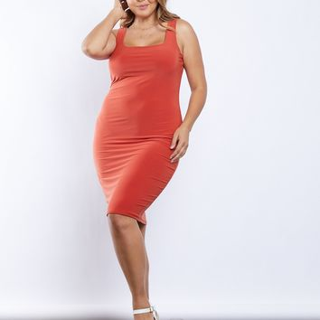 Plus Size Simple As That Bodycon Dress