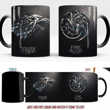 Game of Thrones Mugs Color Changing Magic Mugs Cup Tea Coffee Cup