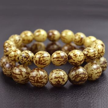 Natural Bodhi Bracelets Buddha Bead Bracelet Men Jewelry Tibet Bracelet Mala Bangle Wrist Band