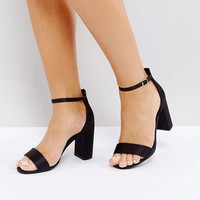 New Look Wide Fit Block Heel Sandal at asos.com
