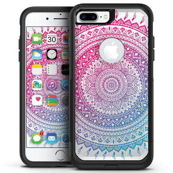 Ethnic Indian Tie-Dye Circle - iPhone 7 or 7 Plus Commuter Case Skin Kit
