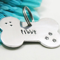 Personalized Dog Tag - Custom Lost Dog Tag - Handstamped Dog Tag - Custom Dog Tag  - Metal Dog Tag - Aluminum Dog Tag - Dog Keychain
