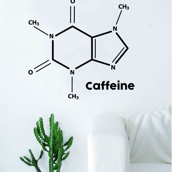 Caffeine Molecule Decal Sticker Wall Vinyl Art Home Room Decor Teacher School Classroom Funny Science Atom