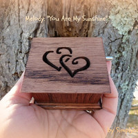 music box, music boxes, musicbox, musical box, valentines day gift, last minute gift, you are my sunshine